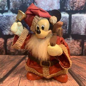 Vtg 1991 Kurt Adler Santa Mickey Mouse Paper Mache